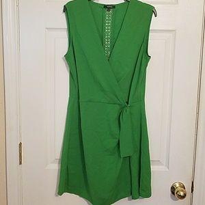 Green short, skort dress